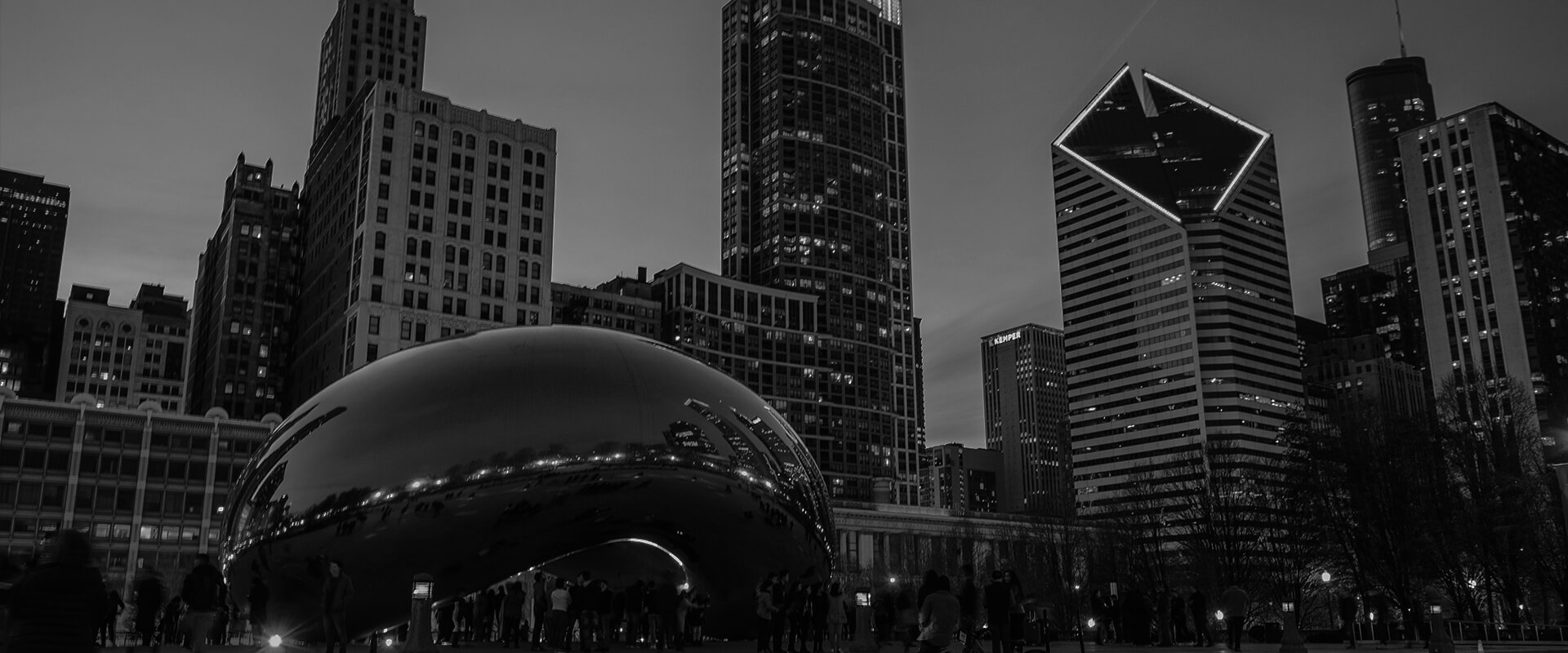 the bean black and white